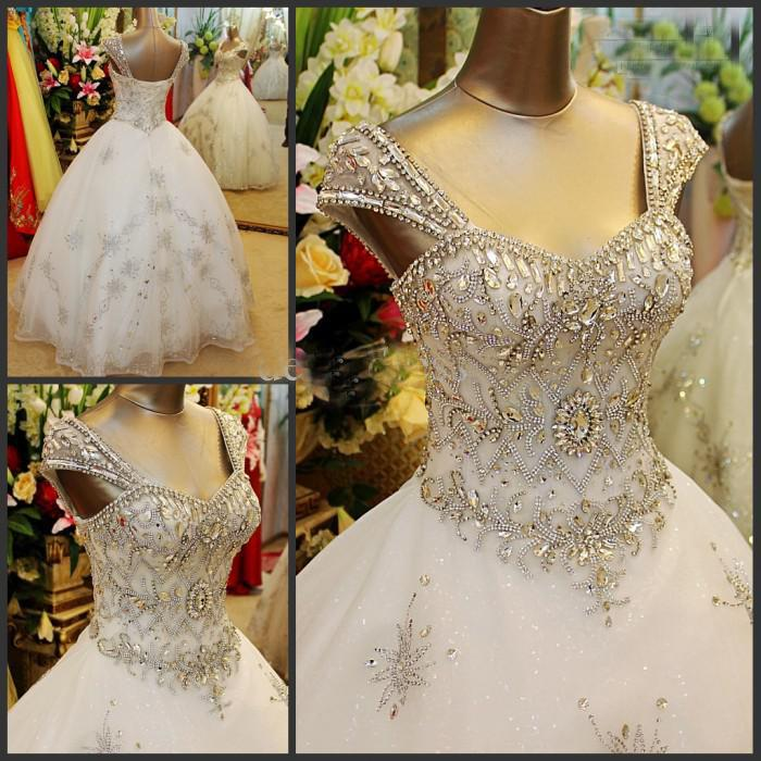 Wedding Ball Gowns With Straps: Wholesale Free Postage Cheap Ball Gown Sheer Straps