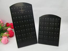 Wholesale Glass Earring Holder - Jewelry Display 5 pcs set Earring Stand Holder Acrylic 48 Holes 24 pairs Earring Display Rack Jewelry Box Storage Free Shipping