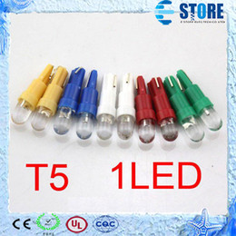 Wholesale Car Lighting T5 Bulbs - T5 1 smd led 1smd 1led for all cars 24months warranty Car Led light, Wedge BULB W5W LAMP wu