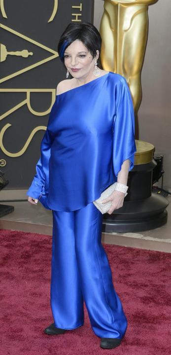 2021 Liza Minelli i Oscars Byxor Passar Kändislackar Långärmade Aftonklänningar Två delar Taffeta Plus Storlek Bredbensbyxor