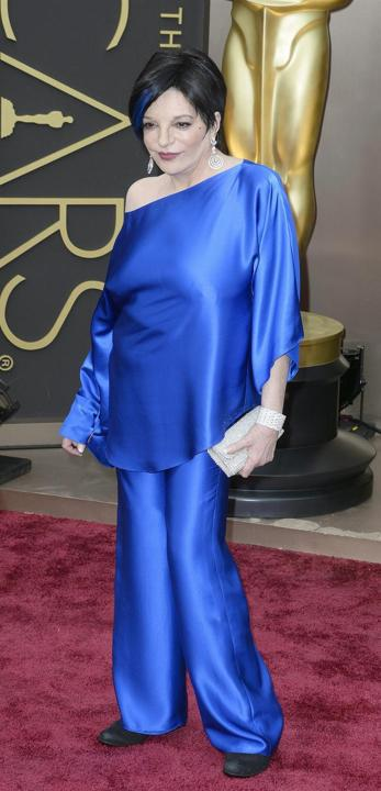 2021 Liza Minelli In Oscars Trousers Suits Celebrity Gowns Long Sleeves Evening Dresses Two Pieces Taffeta Plus Size Wide-legged Pants