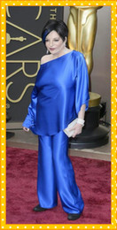 Taffeta Suits Canada - 2019 Liza Minelli In Oscars Trousers Suits Celebrity Gowns Long Sleeves Evening Dresses Two Pieces Taffeta Plus Size Wide-legged Pants