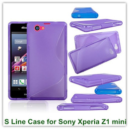 Wholesale Xperia Z1 Gel Case - 10PCS X S Line Soft Antiskid TPU Gel Candy Back Covers Case for Sony Xperia Z1 Compact D5503 Z1 Mini Free Shipping