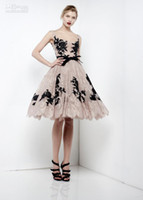 Wholesale Dhgate Prom Dresses - 2014 DHgate Sexy Prom Dresses Tulle Applique Strapless Nude A-line Zuhair Murad Haute Couture 7918