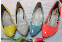 Wholesale Nude Color Work Dress - High heels coat of paint naked color designer shoes high heels Work shoes wedding shoe