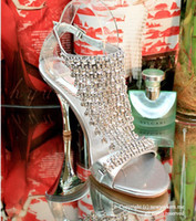 Wholesale Dance Shoes Sandals - Party wedding exceed costly silver Summer sandals high-heeled Fashion Lady Dancing Shoes Bridesmaid Shoes Party Prom Shoes