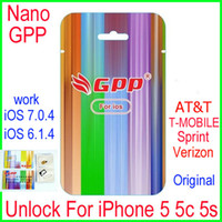 Wholesale Iphone5 Ios7 - Newest L1S3 chip GPP Turbo Nano Sim card unlock For iPhone5 5S 5C iOS7 IOS6 7.0.4 7.X CDMA GSM AT&T T-MOBILE Sprint Verizon NETELL DIGITEL