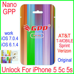 Wholesale Newest L1S3 chip GPP Turbo Nano Sim card unlock For iPhone5 S C iOS7 IOS6 X CDMA GSM AT amp T T MOBILE Sprint Verizon NETELL DIGITEL