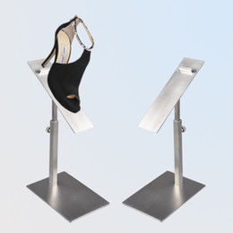 Wholesale Display Shoe Risers - YEON Adjustable height stainless steel shoe display stand shoe riser for fashion store