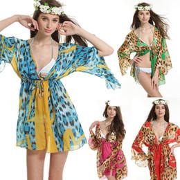 Wholesale Women's Leopard Tulle Babydoll Lingerie Chiffon Sheer Illusion & Beach Robe Dresses Dress Floral Bohemian Swimwear Beachwear 812 Newest