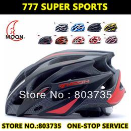 Wholesale Bike Helmets Size L - Best Selling MOON Road Bicycle Helmet Bike Highway Capacetes Casco MTB Sports Cycling Helmet + Size (52cm-61cm)