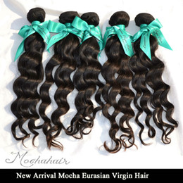 Wholesale Eurasian Natural Wave - Mocha Hair Products Mix 3pcs lot Virgin Eurasian Loose wave Hair Extensions Natural Color Can Be Dyed High Quality