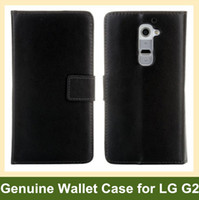 Wholesale Buy Leather Wallet - Wholesale Fashion Design Genuine Leather Wallet Flip Cover Case for LG G2 D802 Free Shipping