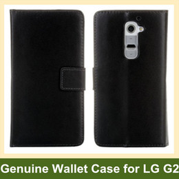 Wholesale Lg G2 Fashion Leather Wallet - Wholesale Fashion Design Genuine Leather Wallet Flip Cover Case for LG G2 D802 Free Shipping