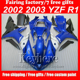 Wholesale Yamaha Body Set - Full set ABS Plastic motorcycle accessories body fairings kit for YZFR1 02 03 YZF R1 2002 2003 Fortuna Body parts Fairing set,free 7 gifts