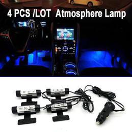 6.5 lumières spot spot Promotion Vente en gros - Populaire LED voiture atmosphère lumière Voitures pied lumières d'intérieur lumières décoratives Livraison gratuite