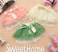 Wholesale Knee Length Girls White Pettiskirt - Wholesale baby tutu pettiskirt Pleated skirt girls lace skirt Gauze dressess Ballet skirt girls princess skirts 8p l