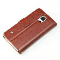 Wholesale Galaxy S4 Flip Cover Folio - Embossing PU Stand Leather Case For iPhone 6 4 4S 5 5S 5C Galaxy S4 Mini S5 Note 3 Neo Copy Sheepskin Card Slot Holder Folio Flip Cover DHL