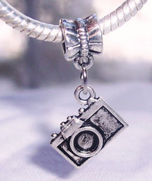 Wholesale Mm Photography - Hot ! Antique Silver Camera Photographer Photo Photography Dangle Charm Bead for European Bracelet 28.5 x 15 mm (z024)