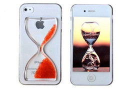 Wholesale Iphone4 Protective Cover - Fun Flowing Sandglass Hourglass Clear Crystal Hard Protective Back Case Cover Skin for iPhone 4 4S 5 5S 5G iPhone4 iPhone5