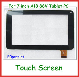 Wholesale Wholesale Replacement Touch Tablet Screen - 50pcs via DHL Replacement 7 inch Capacitive Touch Screen with Glass Digitizer for 7 inch 86V Y7Y007 GT70PW86V CZY6964A01-fpc Tablet PC