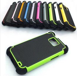 Wholesale S2 Cover Yellow - Dual Layer Rugged Armor Hybrid Hard Case Cover for Samsung Galaxy S2 II i9100