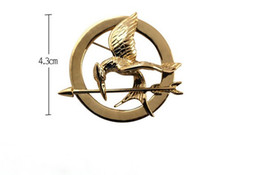 Wholesale Hunger Games Wholesale - New Arrival Vintage Style Hunger Games Mockingjay Brooch Pin 12pieces lot 4 colors
