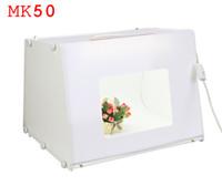 Wholesale 110V V EU US UK Plug SANOTO Kit quot quot Portable Mini Photo Studio Photo Photography Box Softbox Studio Light MK50