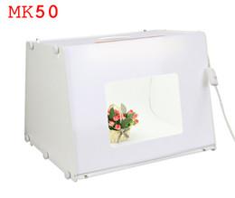 """Photography Light Box Kit Canada - 110V 220V EU US UK Plug SANOTO Kit 20""""*16"""" Portable Mini Photo Studio Photo Photography Box Softbox Studio Light MK50"""