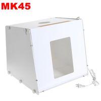 Wholesale SANOTO MK45 quot quot Portable Kit Photo Photography Studio Light Box Softbox Mini Photo Studio V V UK EU US Plug