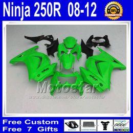 $enCountryForm.capitalKeyWord Canada - 7 Gifts +Tank cover ABS Fairings kit for kawasaki Ninja 250r green black Fairing bodykits ZX250R 08 09 10 11 12 EX250 vb20