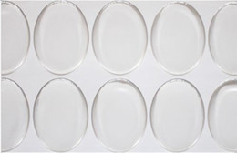 ellipse tool Promo Codes - 2000 pcs lot clear 25*18mm oval epoxy sticker 1 inch 3D crystal Bottle caps ellipse sticker