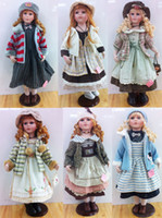"Wholesale Wholesale Assortment Box - 24"" 61cm Leisure style Porcelain Dolls,Bisque Ceramic doll,Chyna Girl--Bobbi Toy Girl's Gift, Pattern Assortments Color Box Free shipping"