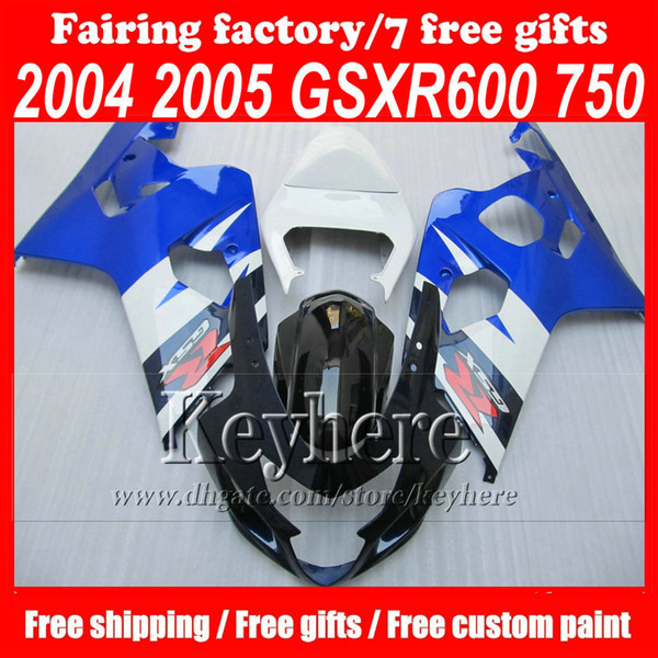 best selling Custom free high quality motorcycle parts 04 05 SX R600 750 k4 GSX-R600 GSX-R750 2004 2005 bodywork fairings kit for SUZUKI with 7gifts