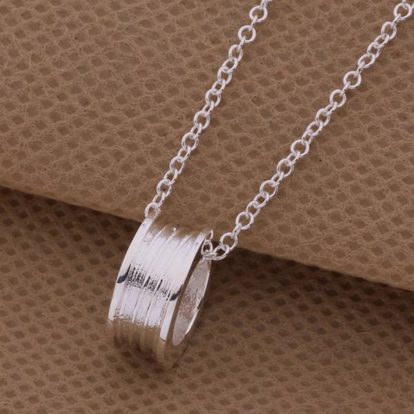 Low Price Top quality 925 Silver Circle Pendant Necklace Fashion Jewelry For Women