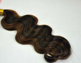 Wholesale Highlighted Extensions - Oxette 100% Brazilian virgin Human Hair Weft Body wave ombre highlighted piano hair extension #1b #30 , 3 or 4 bundles per lot