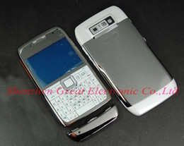 Wholesale Wholesale Faceplates Cell Phones - 50pcs,Full faceplates cell phone housing for nokia e71 mobile phone replacement cover repair case+keypad,spare parts,free shipping