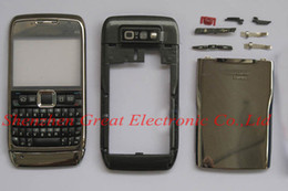 Wholesale Wholesale Faceplates Cell Phones - 100pcs,Full faceplates cell phone housing for nokia e71 mobile phone replacement cover repair case+keypad,spare parts,free shipping