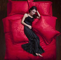 Wholesale Plant Dye - 100% Cotton home textile Jacquard high-grade cotton wedding 4pcs king queen size bedding sets duvet cover bed sheet
