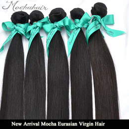 Wholesale Eurasian Human Hair Weave - New Arrival Mocha Hair,Eurasian Virgin Human Hair Extensions 3pcs lot Unprocessed Natural Color Can Be Dyed Fast Shipping By DHL Tangle Free