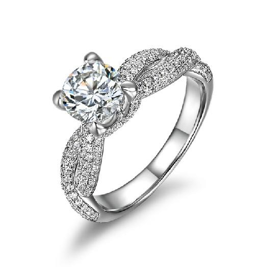Amazing Quality 2CT Excellent VVS1 Synthetic Diamond Wedding Ring For Female White Gold Cover Forever Brilliant Jewelry For Girl Friend