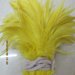 Wholesale Yellow Rooster Feathers - Free Shipping 200PCS Lot Yellow Rooster Feathers Jewelry Feather For Wedding Party Performance Approx 4-6 Inches or 10-15CM