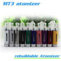 ingrosso bcc coils-MT3 Clearomizer 2.4ml eVod BCC MT3 Sigaretta elettronica ricostruibile Atomizzatore Serbatoio di riscaldamento inferiore Cartomizer per batteria EGO EVOD eciga