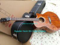 Wholesale Acoustic Koa - 2018 new + factory + TY K24ce Koa electric acoustic guitar teylor custom K24 koa acoustic electric guitar 3 knobs B Band EQ K24