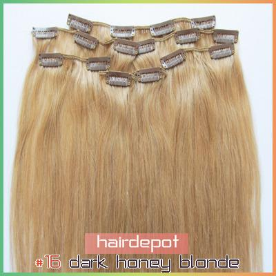 2022 16 real human hair clip in extensions indian dark honey see larger image pmusecretfo Choice Image