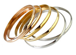 Discount easter gifts for wife 2018 easter gifts for wife on 6pcs set silver gold rose gold mixed jewelry stainless steel women bangle bracelet top quality for wife gifts easter gifts for wife outlet negle Choice Image