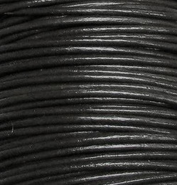 Wholesale 2mm Round Leather - Wholesale 2mm Hot Best Coffee Black Free shiping Genuine Round 100% COW Real Leather Jewelry Cord String For Bracelet & Necklace