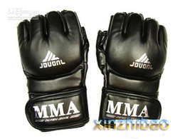 Wholesale Fighting Sports Gloves - Wholesale - MMA UFC Boxing Gloves Grappling Fight Sparring Kick Training black sporting