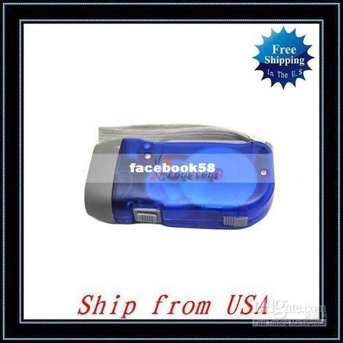 Wholesale - Free Shipping + 10pcs/lot Hand Crank Squeeze Flashlight,No Battery,3 LED Dynamo Flashlight,Ship from