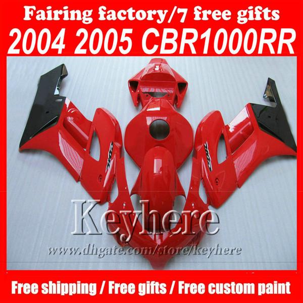 Custom Injection fairings set for HONDA CBR1000RR 2004 2005 CBR 1000 RR 04 05 Glossy red road Fairing set,motocycle bodyworks set